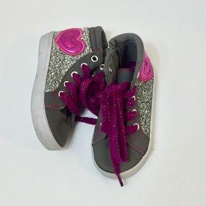 Glittery Heart Hi Top Sneakers